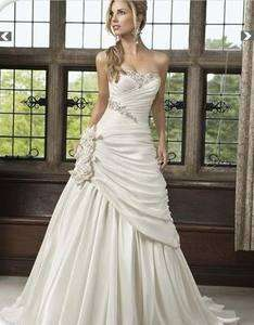 Ivory Wedding Bridal dress pron gown Size6 8 10 12 14 16 18++