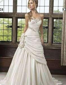 Ivory Wedding Bridal dress pron gown Size6 8 10 12 14 16 18++