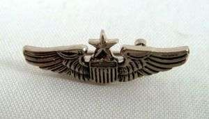 US Air Force Senior Pilot Wing Insignia Pin Vietnam Era Major General