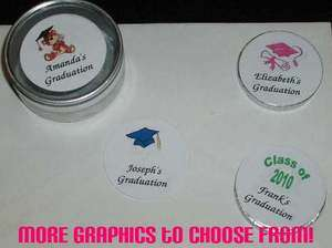 24 Personalized ~ Graduation ~ Envelope Seals Labels Round Stickers