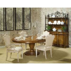 Oval Dining Table Set by A.R.T. Furniture   English Toffee top / Linen