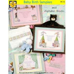 Baby Birth Samplers   Cross Stitch Pattern Arts, Crafts