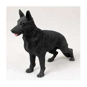 German Shepherd Dog Figurine   Black