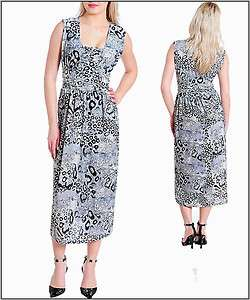 Roman Gray/Black Animal Print Dress   1X   2X   3X   Choose your Size