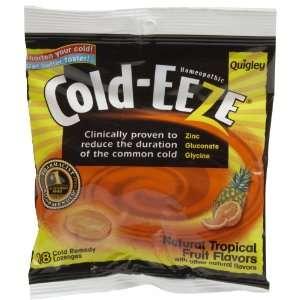 Cold EEze Zinc Gluconate Lozenges, Tropical Fruit 18 ct