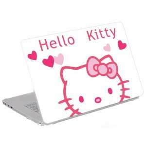 Skin) Trim to Fit 13.3 14 15.6 Laptops   Hello Kitty with Hearts