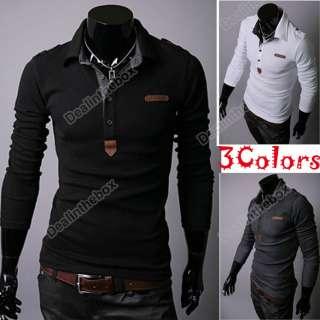 2012 New Mens Good Korean Spring Lapel Casual Thin POLO Shirt Top