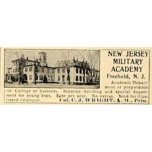 1906 Ad New Jersey Military Academy Freehold Wright