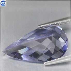 52ct  JUMBO  Unique Hot Blue Beryl  ^FL^ Pretty Pear Checker