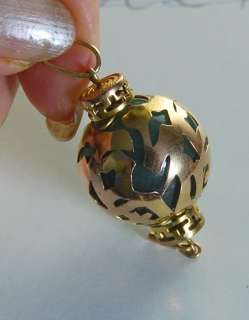 Jade ball pendant 14k Chinese feng shui lucky symbol