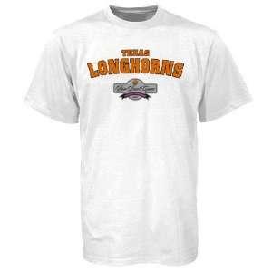Adidas Texas Longhorns White 2006 Rose Bowl T shirt