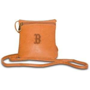 BOSTON RED SOX MLB Womens Tan Leather Purse Bag