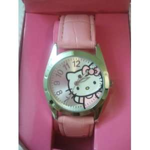 Licensed Hello Kitty Ladies Wrist Leather Band Watch