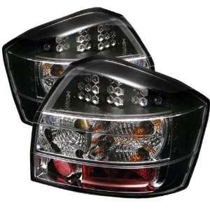 02 05 Audi A4 / S4 LED Tail Lights   Black (pair