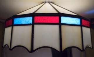 Vintage Leaded Slag Glass Hanging Ceiling Lamp Shade Light Cover