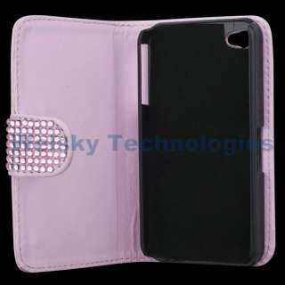 Crystal Hello kitty Flip Hard leather Case for iPhone 4S 4 4G 4Gs PC99