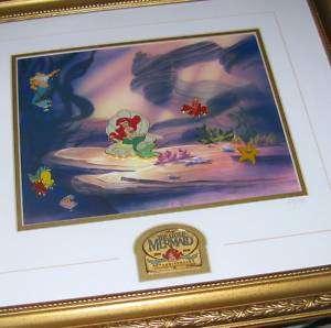 Disney Little Mermaid 10th Anniversary Framed Pin Set