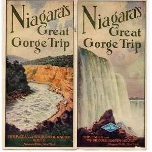 Niagara Gorge Railroad Trip Panorama 1930 Brochure Falls & Whirlpool