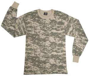 Shirt Long Sleeve ACU Digital Army Combat Camouflage 613902638532