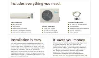 Ductless Mini Split Air Conditioner Heat Pump 18000 BTU 1.5 Ton 18,000