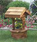 Amish Wooden Wishing Well Garden Planter Yard Decor New