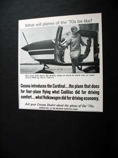 Cessna Cardinal Airplane plane 1968 print Ad