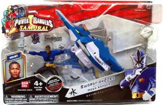 Power Rangers Samurai Vehicle Action Figure SwordfishZord with Mega
