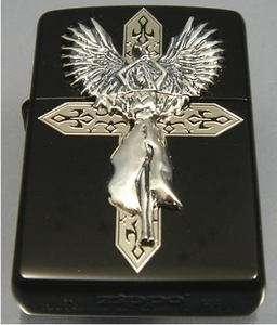 JAPAN MIGHTY GUARDIAN ANGEL WING CROSS BK LIMITED ZIPPO