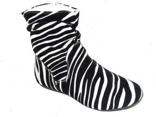 Fashion Womens Ankle High Boots Flats Leopard Zebra Sexy Charm Style