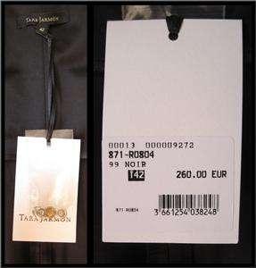 TARA JARMON Black strapless cocktail evening dress w/ pockets Sm 6 42