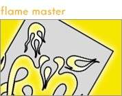 Artool Flame Master Airbrush Paint Stencil Template Set