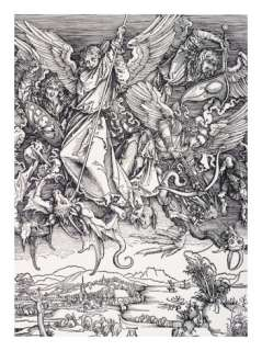 St. Michael Slaying the Dragon Giclee Print by Albrecht Durer at