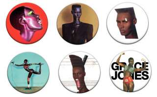 Grace Jones 1 Pin Button Badges (80s Eighties)