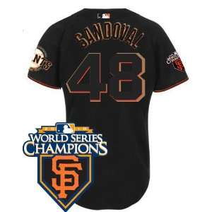 San Francisco Giants #48 Pablo Sandoval Black 2011 MLB