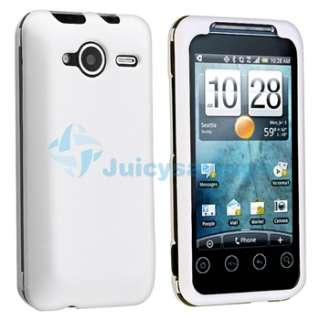 Case Cover+Car Charger+Privacy LCD Film For HTC EVO Shift 4G