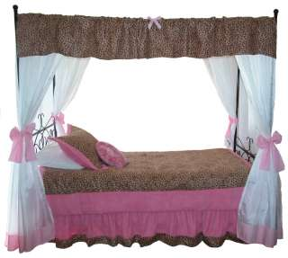 Princess Cheetah Canopy BeddingGirls Bedarched canopy top
