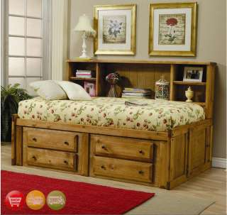 Twin Bookcase Bed Child Youth Bedroom Set Furniture NEW