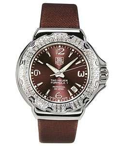 Tag Heuer Formula 1 Womens Brown Diamond Watch
