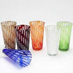 Impulse Hand blown Urban Highball Glasses (Set of 4)