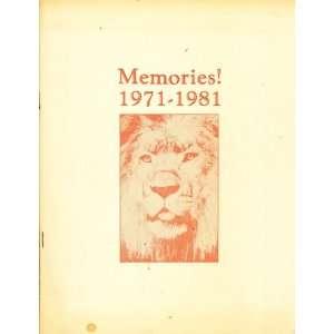 1981 Orange High School Class of 1971 Ten Year Class Reunion Books