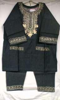 Clothing 3PCs Cotton Denim Pant Suit One Size Not come L XL 1X 2X 3X