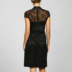 KM Collections By Milla Bell Womens Cap Sleeve Lace Dress
