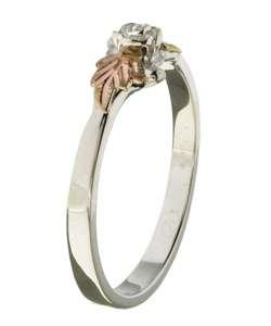 Sterling Silver & Black Hills Gold Rose Ring