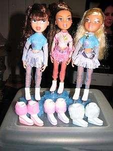 Bratz Ice SKATING 3 doll lot Dana Yasmin Vinessa SUPER RARE with