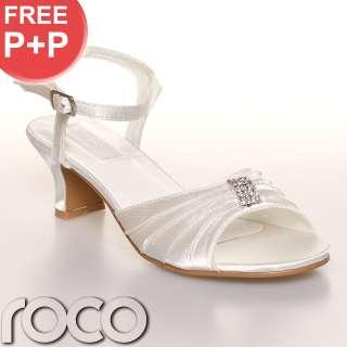 Girls Ivory Kitten Heel Shoes Wedding Bridesmaid Prom Shoes Infant 8