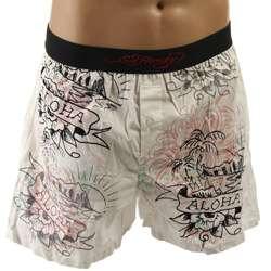 Ed Hardy Mens Aloha Boxer Shorts