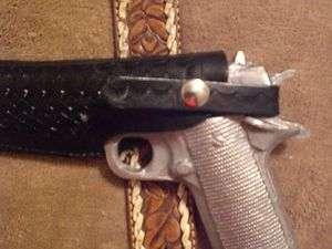 1911 LEATHER SLIDE BELT GUN HOLSTER CONCEALED CARRY HOLSTER,CUSTOM