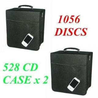 Canvas CD DVD Metal 3 Ring Storage Wallet Binder Case 1056