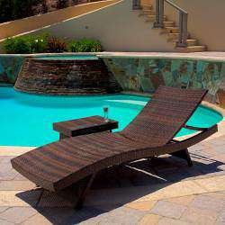 Wicker Adjustable Chaise Lounge Chairs (Set of 4)
