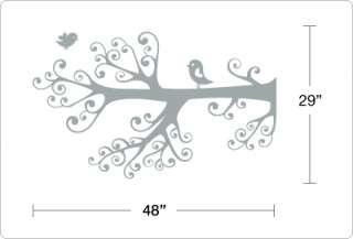 BIG BIRDS on CURLY TREE BRANCH   Vinyl Wall Art Decals